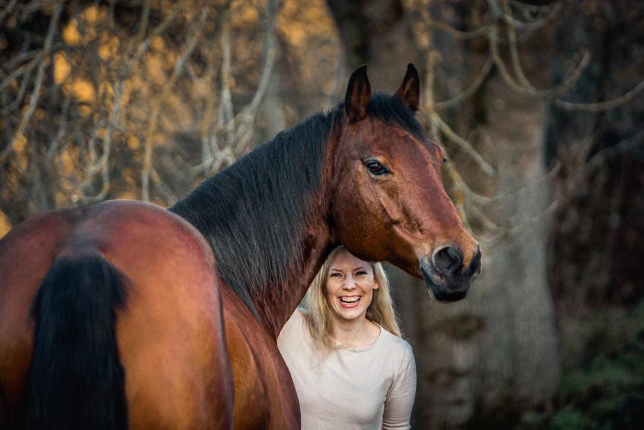 Winterliches 3er Gespann • Fotoshooting mit Hund & Pferd